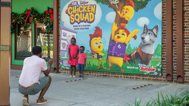 Disney Spring debuts new Chicken Squad wall