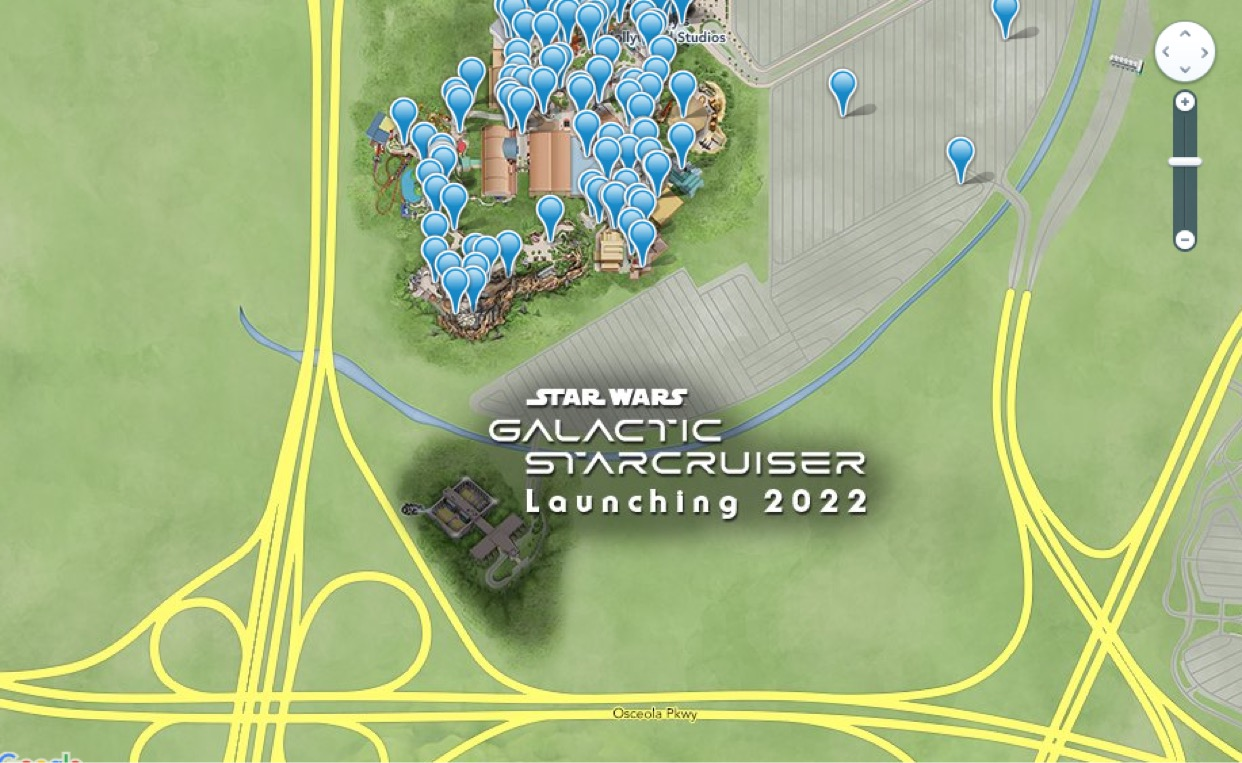 Star Wars Galactic Starcruiser now appearing on Disney Online Maps