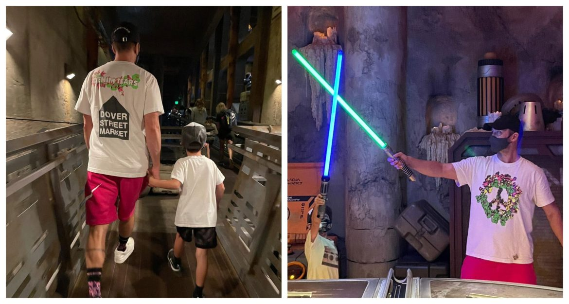 Justin Timberlake and His Son Enjoyed a Visit to Star Wars Galaxy's Edge in Hollywood Studios