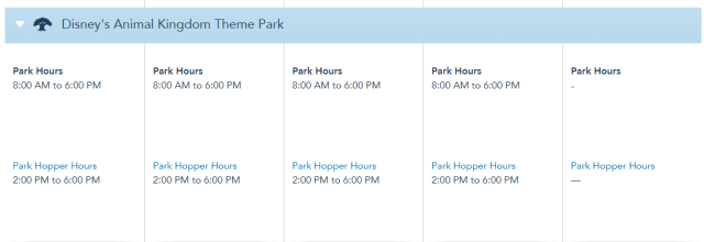 Disney World Theme Park Hours released for the first week of August 4