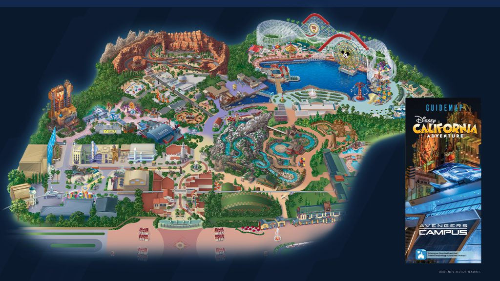 First look at Marvel's Avengers Campus Guide Map