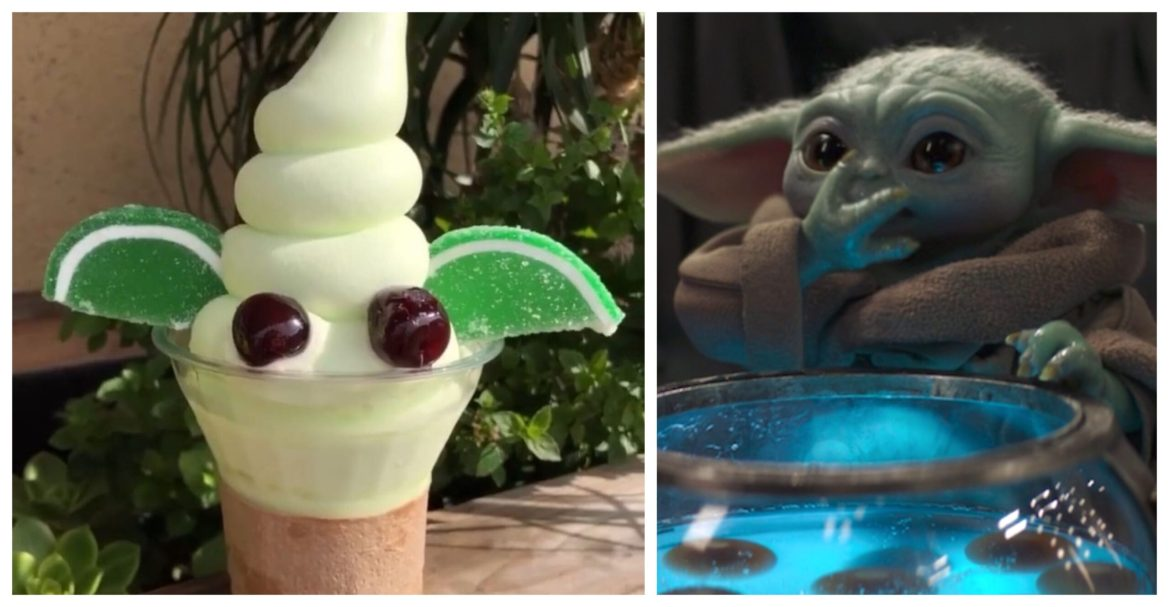 You can get this super cute Baby Yoda Dole Whip outside of Disney