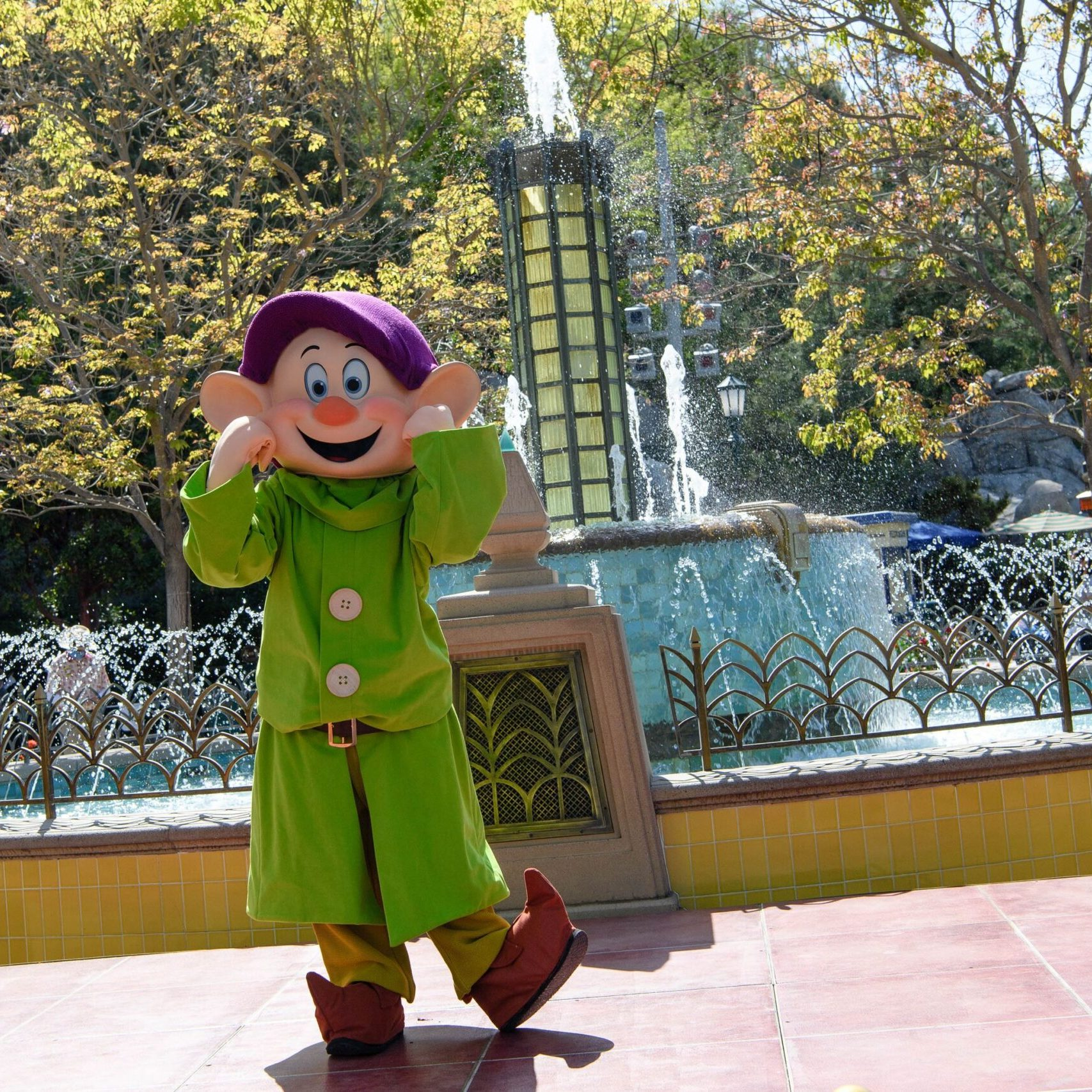 Disney characters welcome guests back to the Disneyland Resort! 8