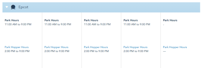 Disney World Theme Park Hours released for the first week of August 2