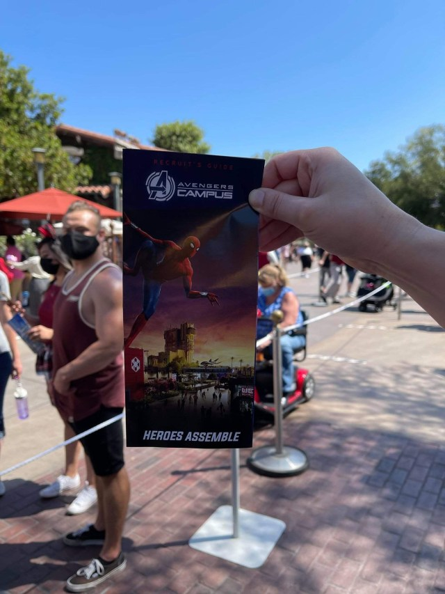 Avengers Campus featured on new Collectable California Adventure Park Map 4