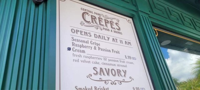 Seasonal Passion Fruit and Raspberry Crépe at Central Park Crépes 2
