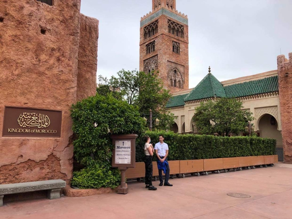 Work continues on new courtyard in Epcot's Morocco Pavilion