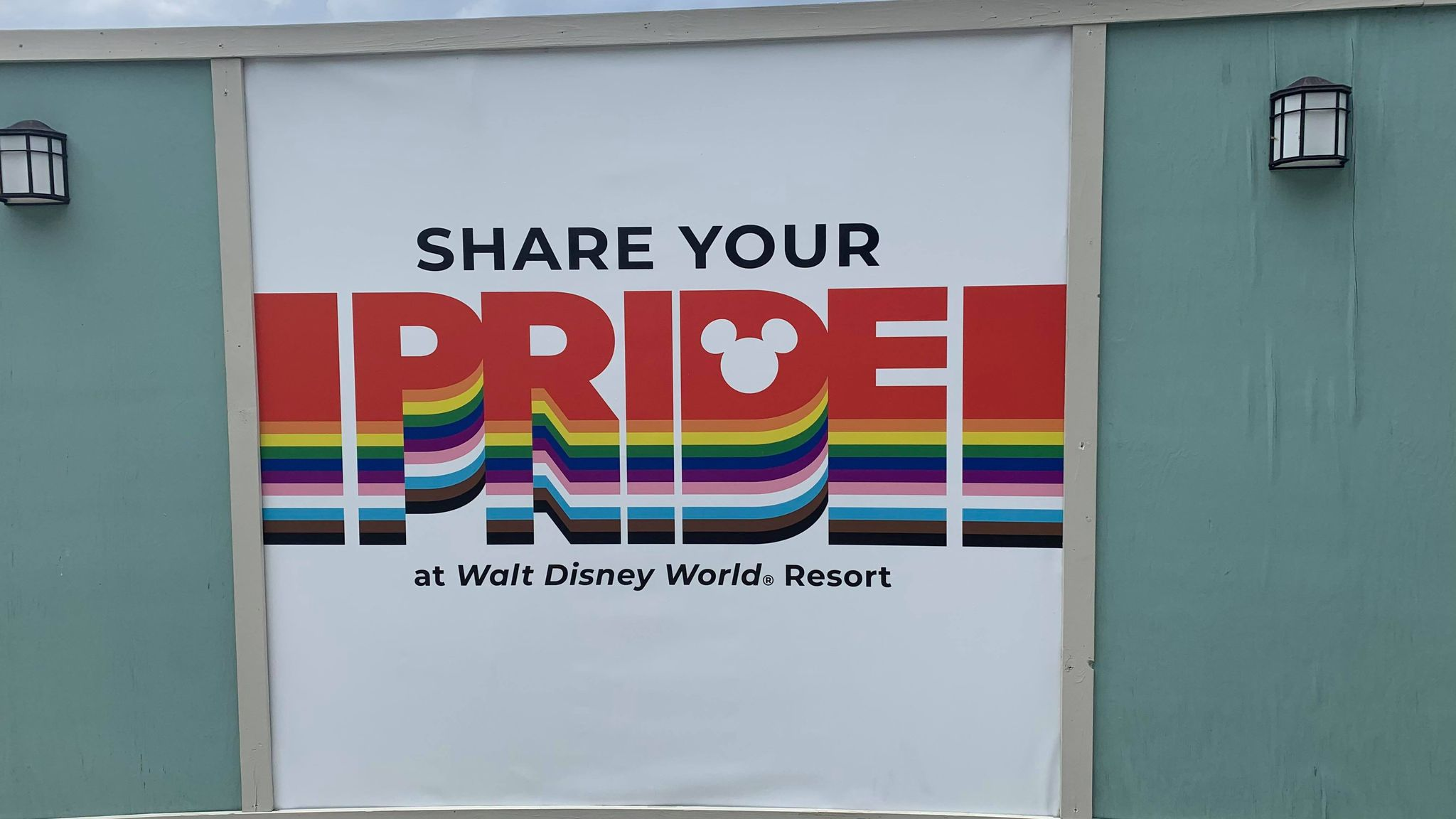 Show your pride in Disney Springs with these new Pride Walls 1