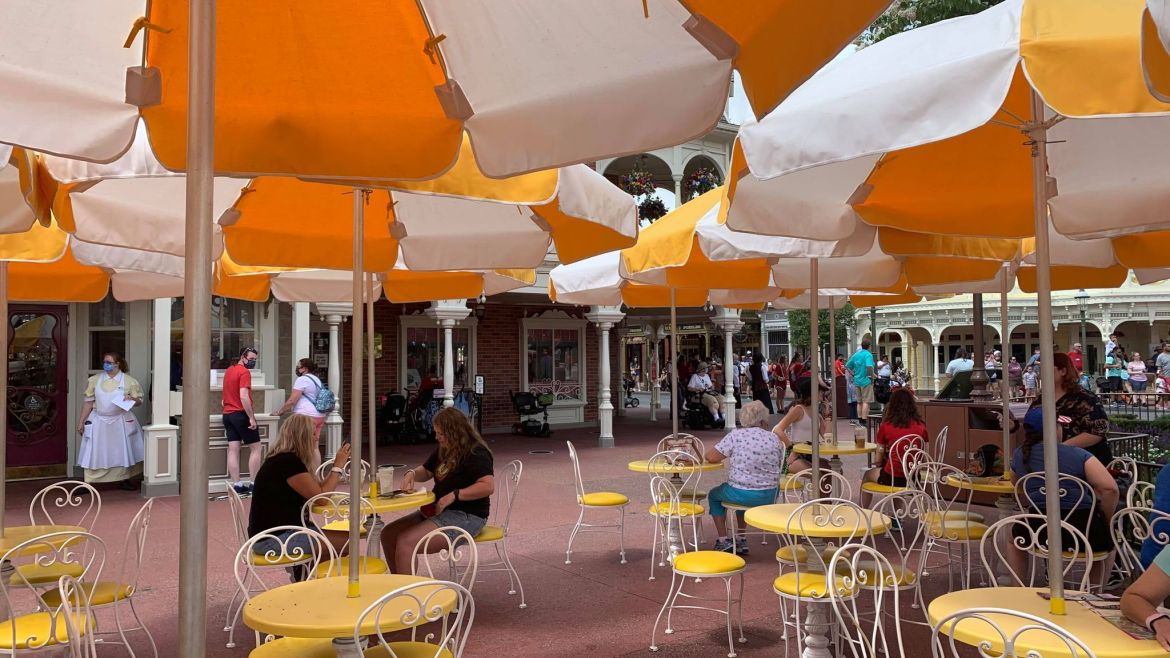 Disney ends physical distancing at outdoor Dining Locations
