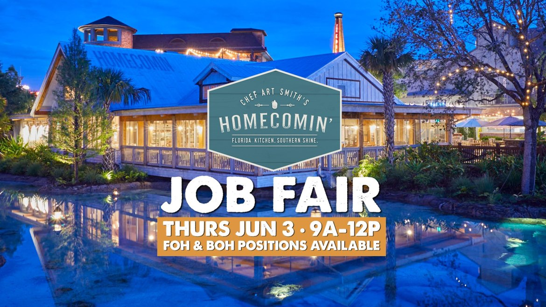 Homecomin' in Disney Springs is hosting a job fair this Thursday!
