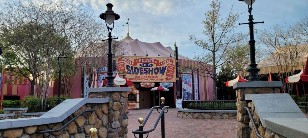 Work being done on Storybook Circus Meet & Greet in the Magic Kingdom