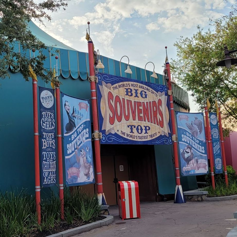 Sign Removed From Big Top Souvenirs in the Magic Kingdom 1
