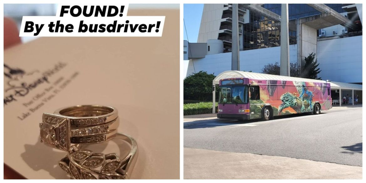 Disney bus driver returns lost wedding rings