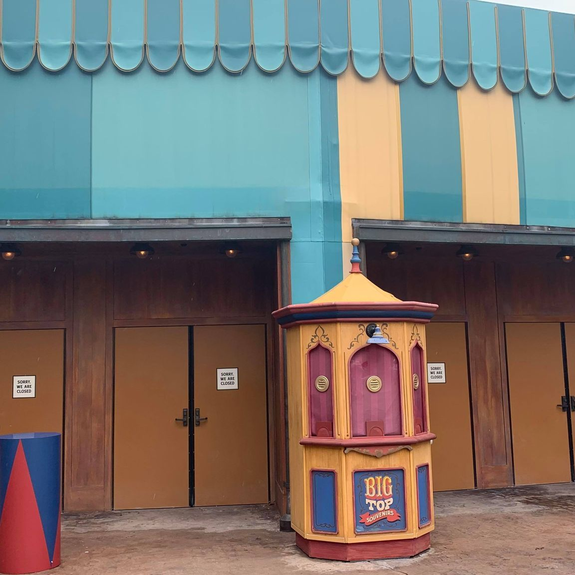 Sign Removed From Big Top Souvenirs in the Magic Kingdom 2
