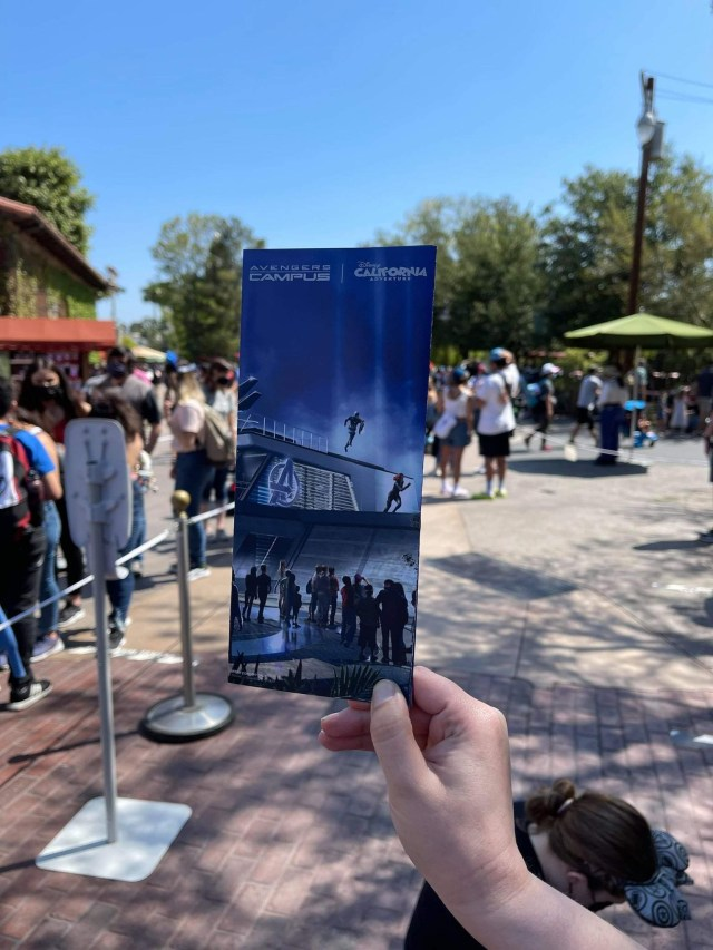Avengers Campus featured on new Collectable California Adventure Park Map 3