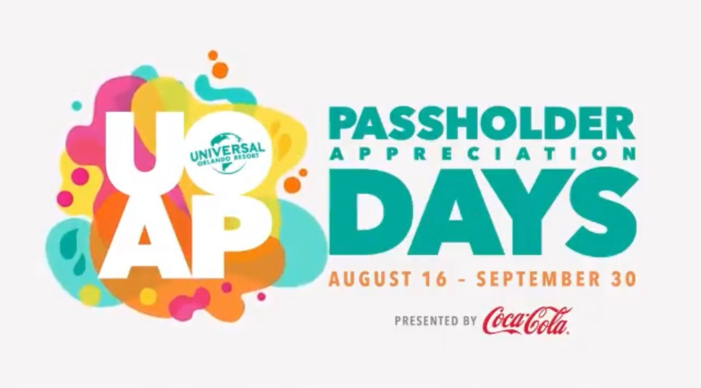Passholder Appreciation Days Returning to Universal Orlando This August