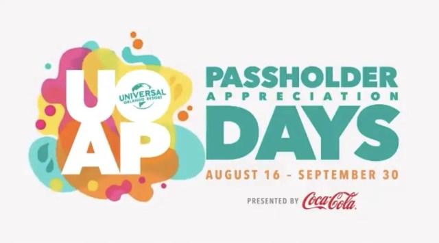 Passholder Appreciation Days Returning to Universal Orlando This August 1