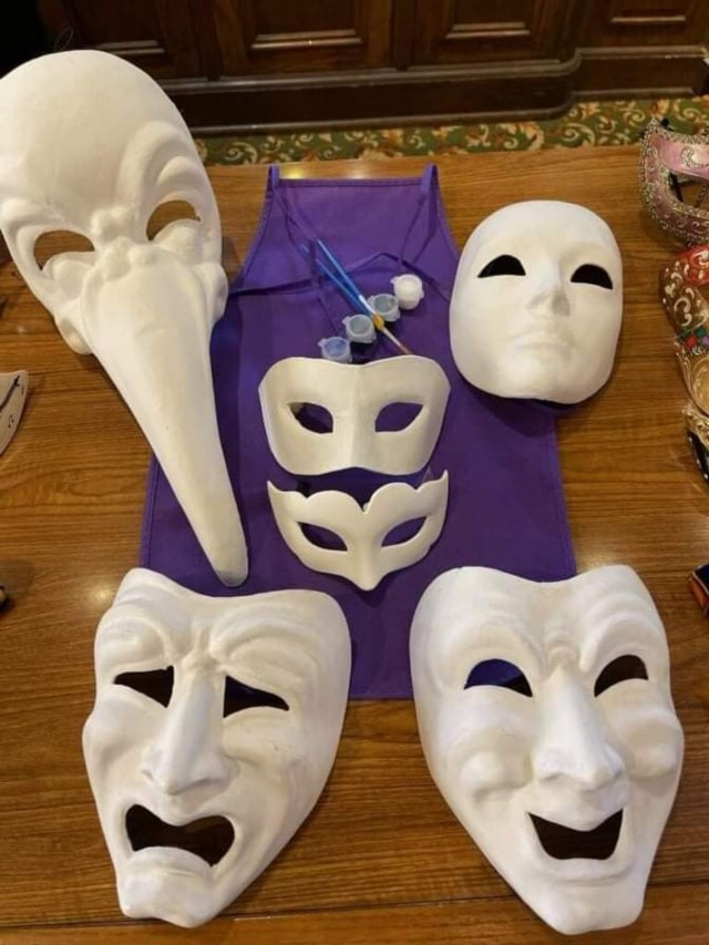 Paint your own Mask now at Epcot's Italy Pavilion 3