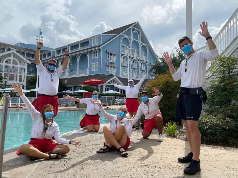 Disney Beach Club Cast Members return to work