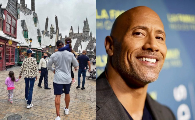 The Rock visits the Wizarding World of Harry Potter 1