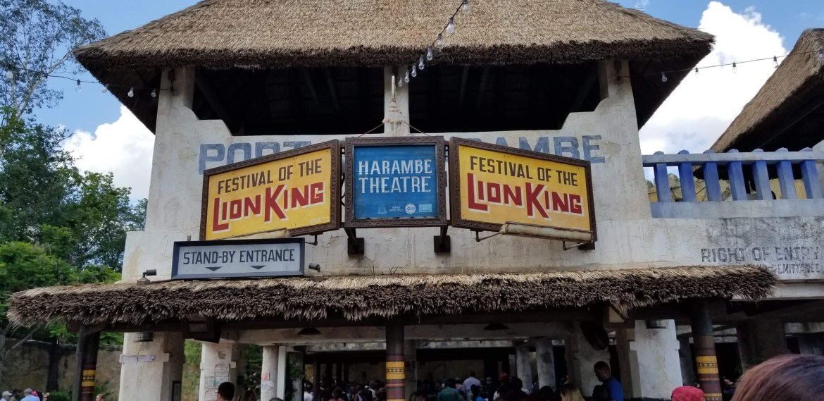 Festival of the Lion King now seating ever row