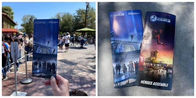 Avengers Campus featured on new Collectable California Adventure Park Map 1