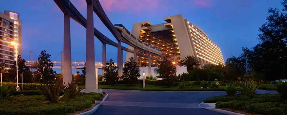 Disney Closing down the lobby as part of Disney's Contemporary Resort Refurbishment