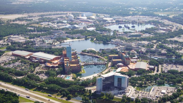 Disney World Swan Reserve aerial view of construction