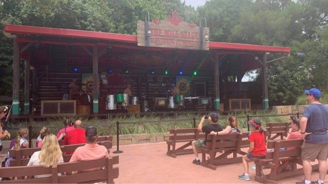Seating returns to Canada Pavilion Stage in Epcot 2
