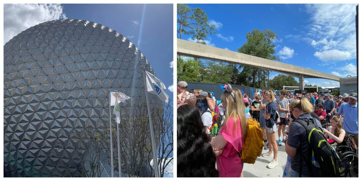 Crowds line up as Rope Drop returns to Epcot