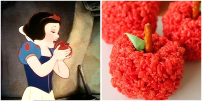 Snow White Red Apple Crispy Treats To Make At Home!