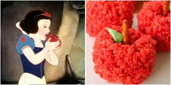 Snow White Red Apple Crispy Treats