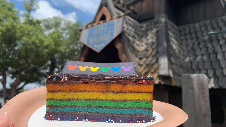 Epcot's Kringle Bakeri Og Kafe Celebrates Pride Month With A Delicious Rainbow Cake!