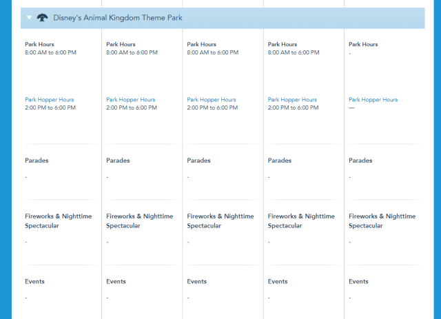 Disney World Park Hours have been released through Sept 4th 5