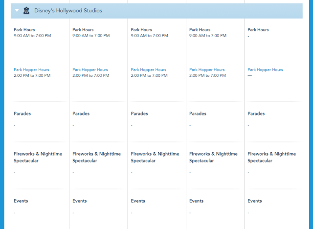 Disney World Park Hours have been released through Sept 4th 4