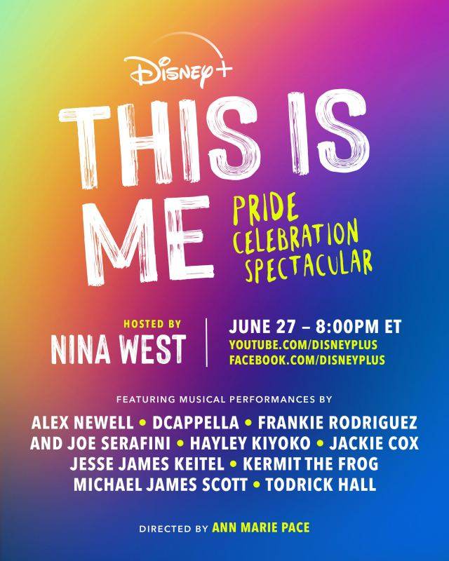 Disney+ to Host 'This is Me: Pride Celebration Spectacular' on June 27th 2