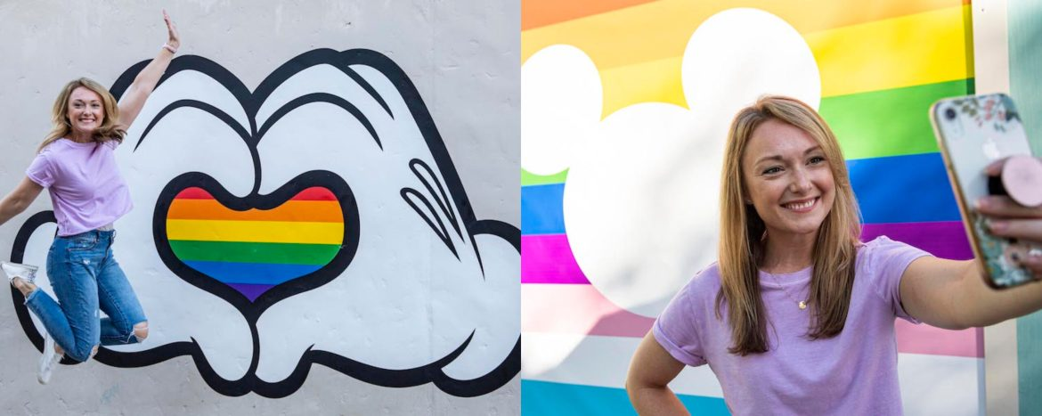 Show your pride in Disney Springs with these new Pride Walls