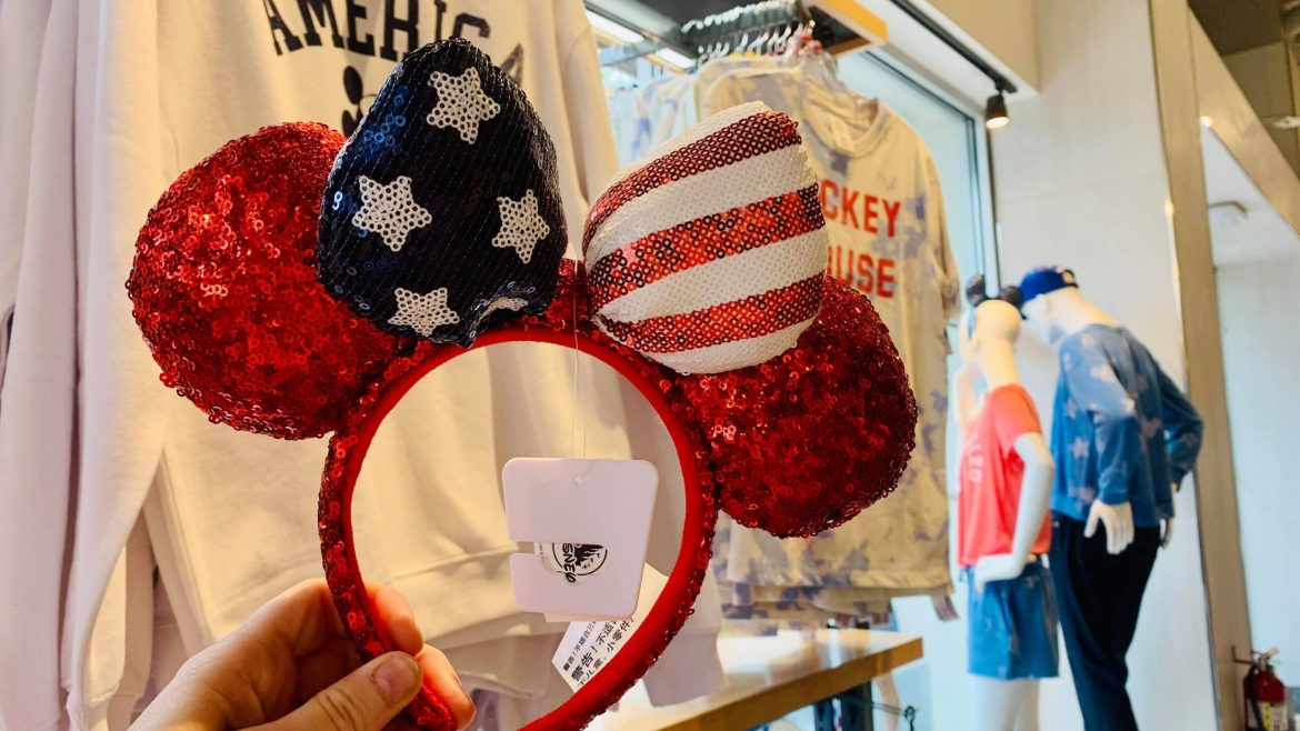 Beautiful Americana Minnie Ears For The 4th of July