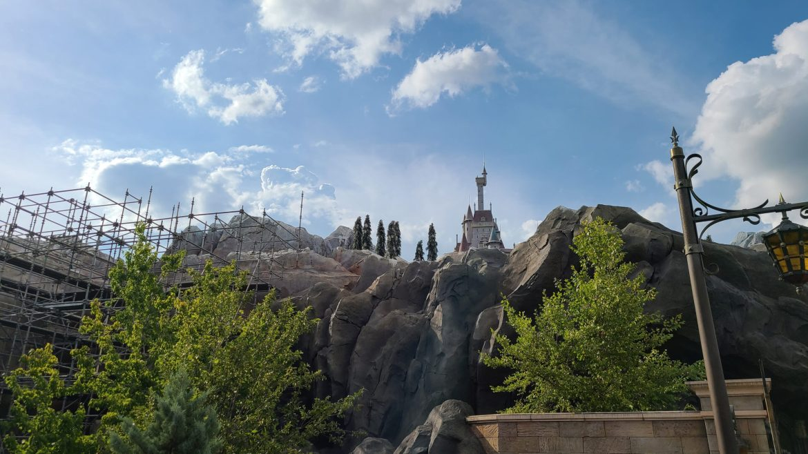 Construction continues on Beauty & the Beast Castle to prepare for 50th Anniversary