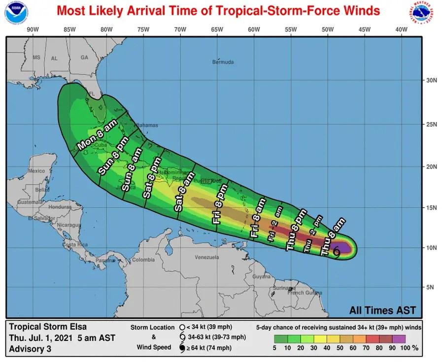 Tropical Storm Elsa sets her eye on Florida 2