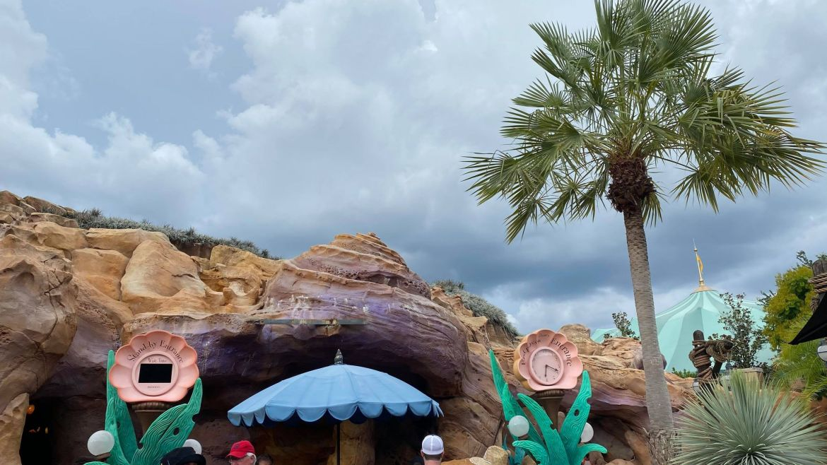Sign removed from Ariel's Grotto in the Magic Kingdom