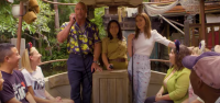 Dwayne Johnson & Emily Blunt Surprise Disneyland Guests on The Jungle Cruise Ride 5
