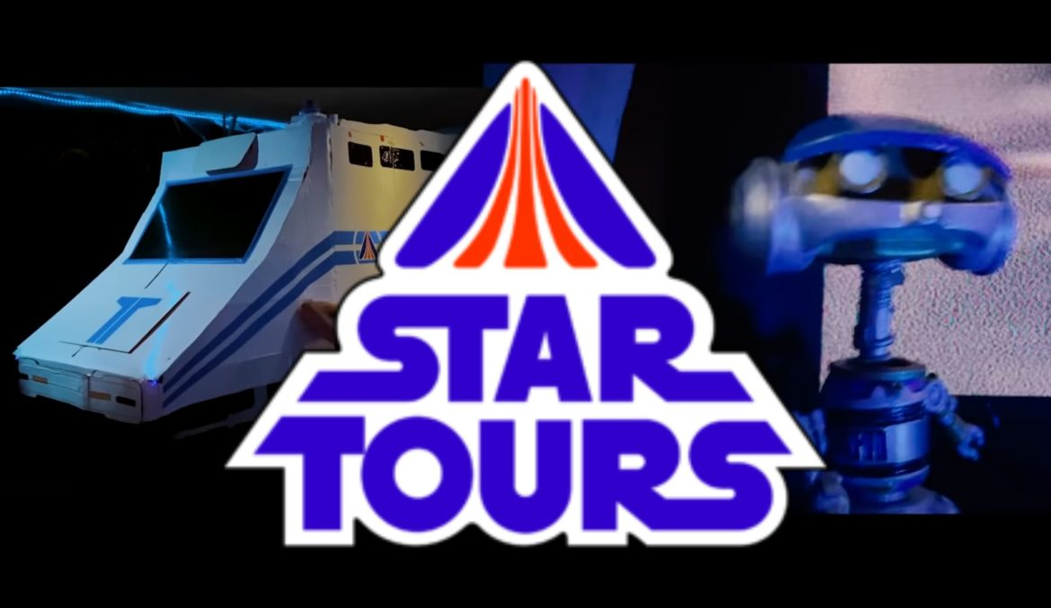 This Disney Dad Built a Homemade Disneyland Star Tours Attraction at Home