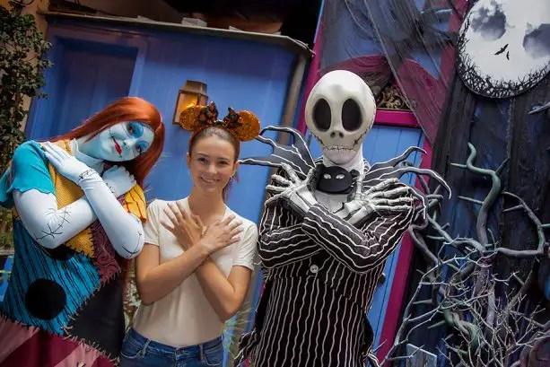 Jack & Sally return to greet guests this Halloween at Disneyland!