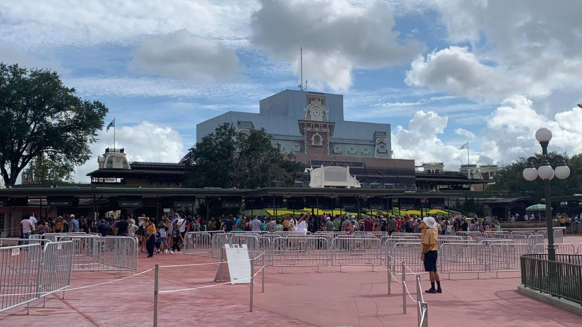 Magic Kingdom adds barriers to main entrance ahead of expected crowds
