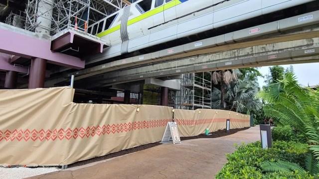 Photos: Disney's Polynesian Resort Monorail Platform Construction 5