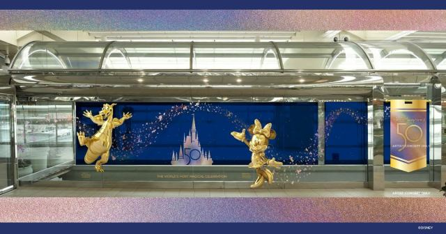 Orlando Airport to receive special Walt Disney World 50th Anniversary decorations 1