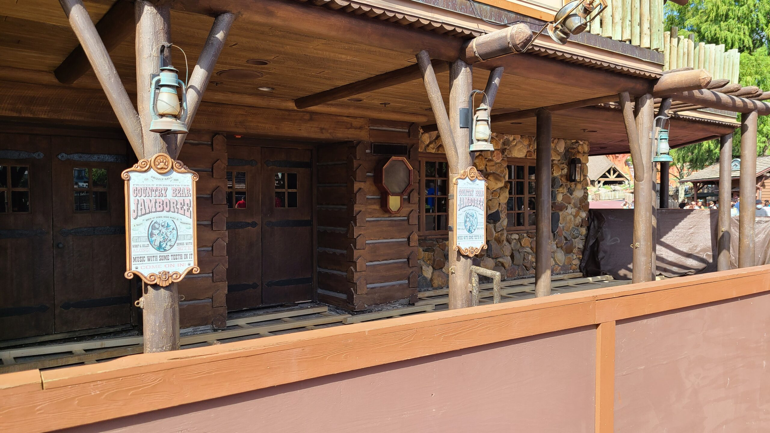 Construction on the entrance of Country Bear Jamboree 2