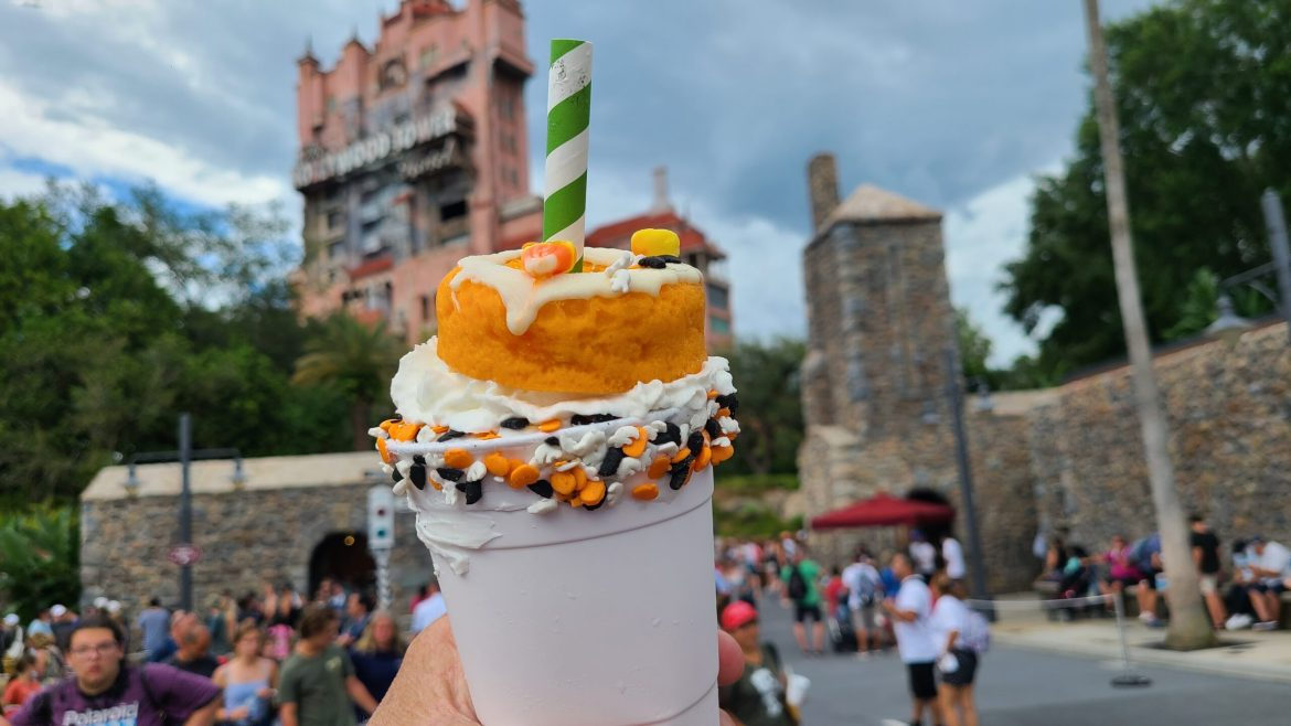 Halloween Candy Corn Cake Shake from Hollywood Scoops