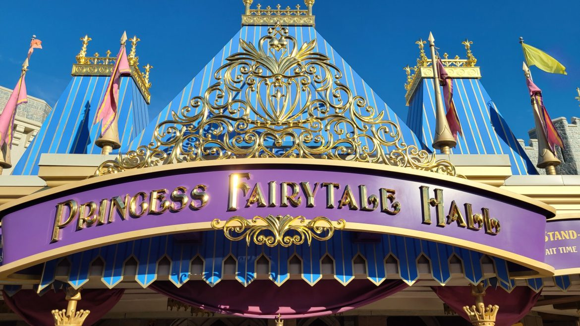 Princess Fairytale Hall has an updated look for Disney World 50th